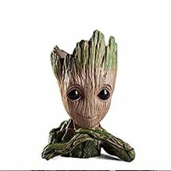 Action Figures Guardians Of The Galaxy Flowerpot Baby Cute Model Toy Pen Pot Best Gifts