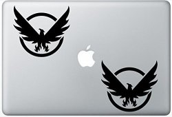 Henry Decal Tom Clancys The Division ZD0119 Set Of Two 2X Decal Sticker Laptop Ipad Car Truck