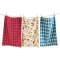 "Tag 206099 Camping Dishtowel Set Of 3 Multicolor 18""W X 26""L"