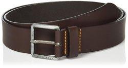 Boss Orange Men's Jeeko Italian Leather Belt Dark Brown Us 36