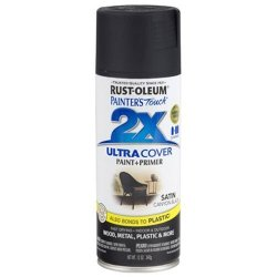 RUST-OLEUM 249844 Painter's Touch 2X Ultra Cover 12-OUNCE Satin Canyon Black