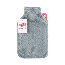 Hot Water Bottle With Cover 2L - L.grey