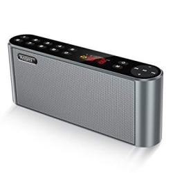Antimi Bluetooth Speaker Fm Radio Player MP3 Player Stereo Portable Wireless Speaker Drivers With HD Sound Built-in Microphone H