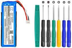 Cameron Sino 3000MAH Battery For Jbl Flip 3 Splashproof Portable Bluetooth Speaker With Toolskits
