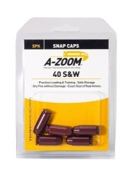 A-Zoom 40 S & W Precision Pistol Snap Caps