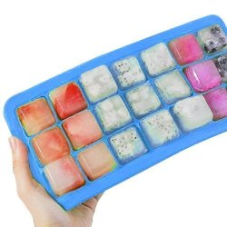 Newcomdigi Ice Cube Tray Easy Release Upgrade Silicone Ice Tray With