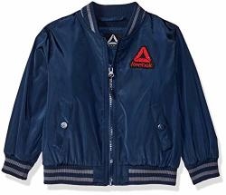 Reebok Boys' Toddler Active Varsity Jacket Navy 4T
