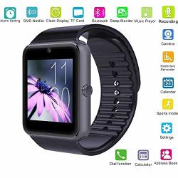 Changsha Hangang Technology Ltd Hangang GT08 Blue Tooth Smart Watch Support Sim & Tf Card smartwatch Notification Reminder Sleep Monitor Fitness Wristwatch Black