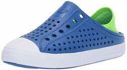 Skechers Kids Boys' Cali Gear Guzman Stepz Sneaker Blue lime 4 Medium Us Big Kid