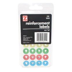 Advantus Corp.- Office Advantus Self Adhesive Reinforcement Labels 240 Labels 4 Assorted Foil Colors Z06011