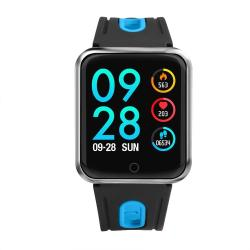 P68 1.3 Inch Ips Color Screen Smartwatch IP68 Waterproof Silicone Watchband Support Call Reminder heart Rate Monitoring blood Pressure Monitoring sleep Monitoring blood Oxygen Monitoring Blue