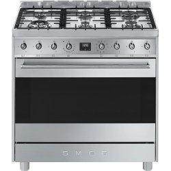 eef2e1a5919 Deals on Smeg 90CM Symphony Gas electric Cooker Stainless-steel ...