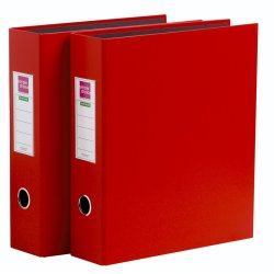 SIMPLE CHOICE - A4 Lever Arch File 2PC Red