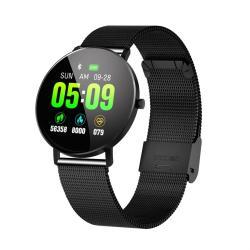 F25 1.3 Inch Tft Color Screen Steel Watchband Smart Bracelet Support Call Reminder Heart Rate Monitoring blood Pressure Monitoring sleep Monitoring blood Oxygen Monitoring Black