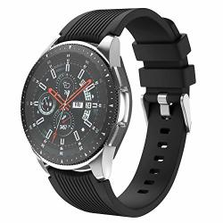 Isabake Watch Strap For Galaxy Watch 46MM 22MM Soft Silicone Band Replacement For Gear S3 Frontier classic Huawei Watch 2 Classic watch GT Ticwatch Pro Amazfit