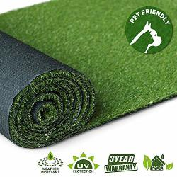 Artificial Grass Turf Lawn - 2FTX10FT 20 Square Ft Indoor Outdoor Garden Lawn Landscape Synthetic Grass Mat