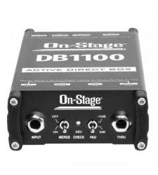 On-Stage DB1100 Mono Active Di Box Black