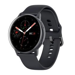 SG2 1.2 Inch Amoled Screen Smart Watch IP68 Waterproof Support Music Control Bluetooth Photograph Heart Rate Monitor Blood Pressure Monitoring Black