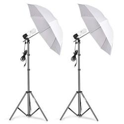 Linco Lincostore Photography Photo Portrait Studio Lighting 600W Day Light Umbrella Continuous Lighting Kit AM125