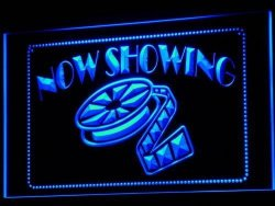 ADV PRO I650-B Now Showing Filming Film Movies Neon Light Sign