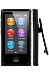 USA Viesrod - IMPORTER520 Belt Clip Tpu Rubber Skin Case Cover For Apple Ipod Nano 7TH Generation 7G 7 Black