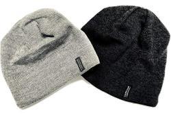 Cascade Mountain Tech Merino Wool Beanies - Balaclava Cold Weather Windproof Ski Mask