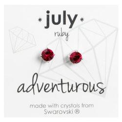 No Brand - Silver Swvski Jul Studs Mdd-jul