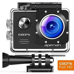 APEMAN Action Camera Wifi 14MP 1080P Fhd Sports Camera 2.0 Inch Lcd Display & 170ULTRA Wide-angle Lens - 2 Rechargeable 1050MAH Batteries & Portable Package Including Full Accessories Kits