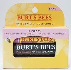 Burt's Bees Pink Blossom Tinted Lip Balm & Watermelon Shimmer Combo Kit
