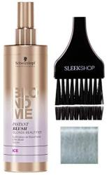 Schwarzkopf Blond Me Instant Blush Blonde Beautifier - Ice With Sleek Tint Brush Blonde Me Spray-on Temporary Pastel Tone Color