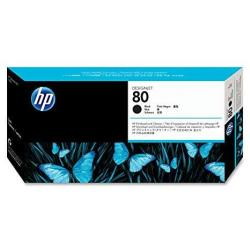 Hp 80 Black And Cleaner Designjet Original Ink Cartridge C4820A