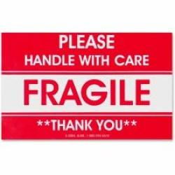 TCO10951 - Tatco Fragile handle With Care Shipping Label