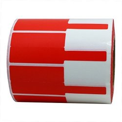 Hybsk Assorted Colors Waterproof Self-adhesive Cable Label Total 500 Per Roll Red