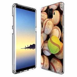 Samsung Galaxy S9 Plus Case Baseball Pattern Crystal Print Soft Super Silm Clear Case Samsung Galaxy S9 Plus Scratch-proof Prote
