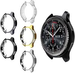 5 Pack Case For Samsung Gear S3 Frontier SM-R760 Mimei Soft Tpu Plated Protective Bumper Shell Protector For S3 Classic SM-R770N & Galaxy 46MM SM-R80