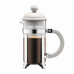 Bodum Caffettiera Coffee Maker French Press With Plastic Lid 8 Cups Of Coffee 1 0 L Cream 1918-913