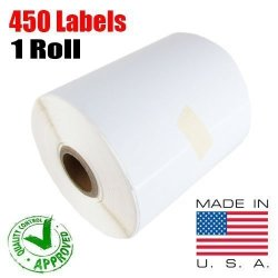 IMBAPrice - 1 Roll Of 450 Usa 4X6 Direct Thermal Labels For Zebra 2844 ZP-450 ZP-500 ZP-505 1 Inch Core