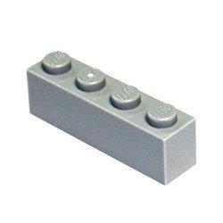 Lego Parts And Pieces: Light Gray Medium Stone Grey 1X4 Brick X200
