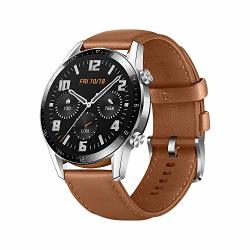 HUAWEI Watch GT 2 2019 Bluetooth Smartwatch Longer Lasting 2 Weeks Battery Life Waterproof Compatible With Iphone And Android 46MM Pebble Brown