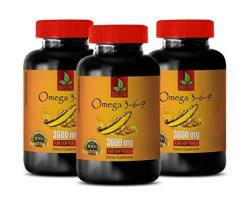 Omega 3-6-9 Supports Heart Health - Omega 3 6 9 Complex 3600 Mg - Flaxseed Omega 3 Supplement - 3 Bottles 360 Softgels