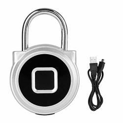 Fingerprint Padlock Waterproof Smart Fingerprint Keyless Security Lock Anti-theft For Home Office Wardrobe Cabinet Box