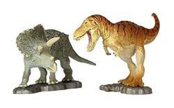 Miniq Miniature Cube Cretaceous Showdown Tyrannosaurus Vs Triceratops Approx. 95 Mm-pvc Pre-painted Completed Figure 002