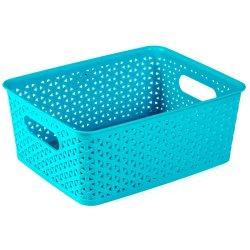 FORMOSA - Rattan Basket Small Turquoise