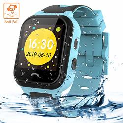 Themoemoe Kids Smartwatch Phone Kids Smartwatch Waterproof Anti-fall 2G Gps lbs Tracker Sos Camera Games Compatible With Android