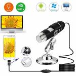 USB Microscope 1000X Magnification Endoscope 8 LED 2.0 Digital Microscope MINI Camera With Otg Adapter And Metal Stand Compatibl