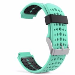 Circle Silicone Band For Garmin Forerunner - Mint & Black