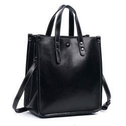 S-ZONE Women Genuine Leather Top Handle Satchel Daily Work Tote Shoulder Bag Large Capacity Brown