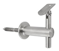 "Top Hardware WB-242 Stainless Steel Wall Mount Adjustable Handrail Bracket For 1-1 2"" Round Tube Satin"