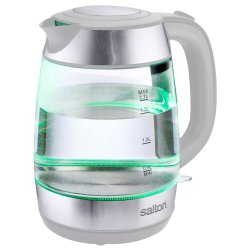 Salton - Colour Changing Glass Kettle White
