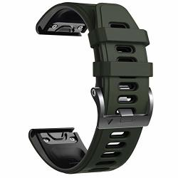 Notocity Compatible With Fenix 6 Pro Watch Band For Fenix 6 FENIX 6 Pro fenix 5 FENIX 5 Plus forerunner 935 FORERUNNER 945 APPROACH S60 QUATIX 5 Army Green-black